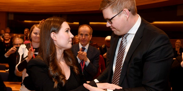 Sanna Marin, a 34-year-old minister and lawmaker has been tapped to become Finland's youngest prime minister ever and its third female government head, replacing former Cabinet leader who resigned Tuesday. (Vesa Moilanen/Lehtikuva via AP)