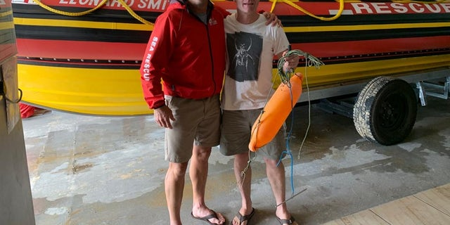 "Prinsloo returned to the rescue base to retrieve his buoy, as he had plans to ""go spearfishing"" the very next day."