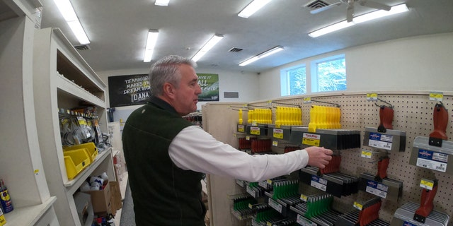John Sullivan, the owner of Dana Wallboard in Tyngsborough, Mass., said paper bags just won't cut it for a lot of the tools he sells.