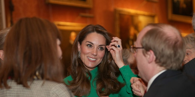Catherine, Duchess of Cambridge attends a reception for NATO leaders hosted by Queen Elizabeth II at Buckingham Palace on December 3, 2019 in London. (Photo by Yui Mok - WPA Pool/Getty Images)