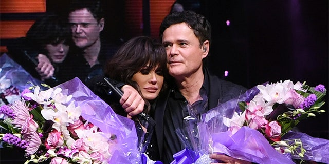 Donny and Marie Osmond during their final performance at Flamingo Las Vegas on November 16, 2019, in Las Vegas, Nevada.