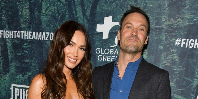 Megan Fox and Brian Austin Green pose in rare red carpet photo