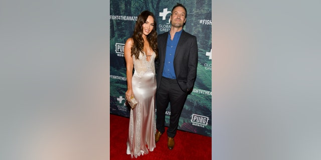 Megan Fox and Brian Austin Green at the PUBG Mobile's #FIGHT4THEAMAZON Event. (Photo by Rodin Eckenroth/Getty Images)