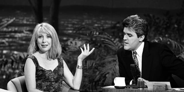Actress Teri Garr on the Tonight Show with guest host Jay Leno on May 8, 1990
