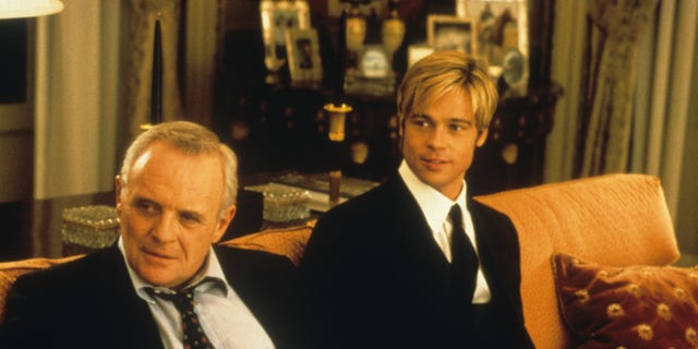 "Anthony Hopkins and Brad Pitt in the film ""Meet Joe Black."" (Photo by Universal/Getty Images)"