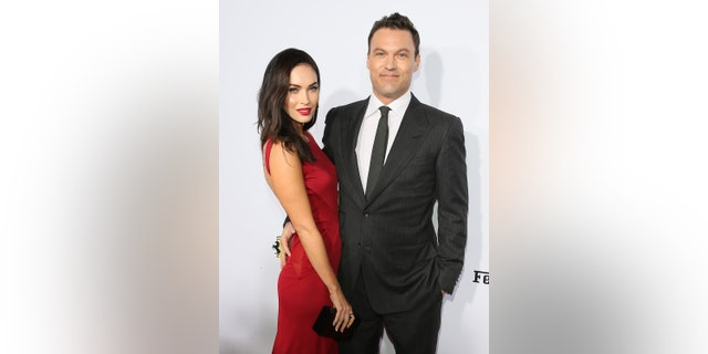 Actress Megan Fox and Brian Austin Green attend Ferrari's 60th Anniversary in the USA Gala at the Wallis Annenberg Center for the Performing Arts on Oct. 11, 2014 in Beverly Hills, Calif.