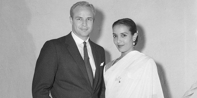 Marlon Brando and Anna Kashfi.