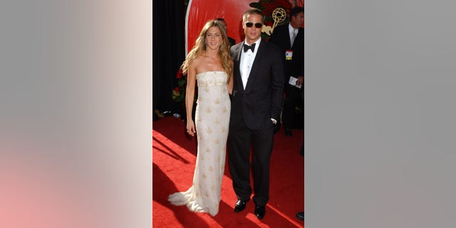 Jennifer Aniston and Brad Pitt at the 2004 Emmys in Los Angeles, Calif.