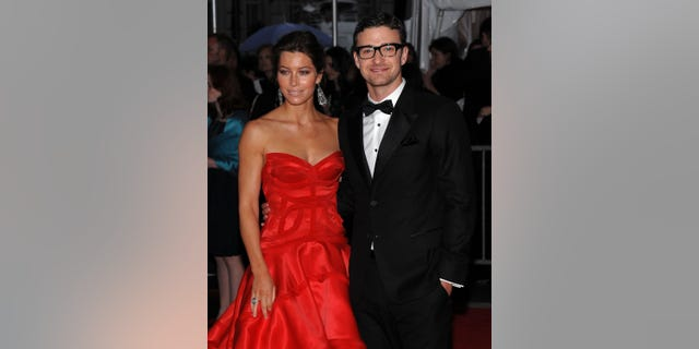 Jessica Biel and Justin Timberlake attend a red carpet event in New York City in 2009. (Photo by Dimitrios Kambouris/FilmMagic)