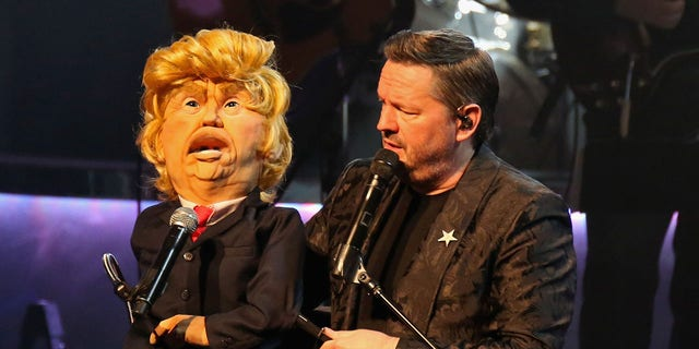 Fox news today: Comic ventriloquist and impressionist Terry Fator performs with his President Trump puppet at The Mirage Hotel & Casino on March 12, 2018 in Las Vegas. (Getty Images)