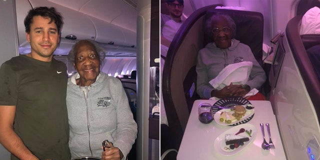 "One Virgin Atlantic flight attendant didn't hesitate to play favorites when sharing the sweet story of her new ""favorite"" passengers Jack and Violet, pictured,"