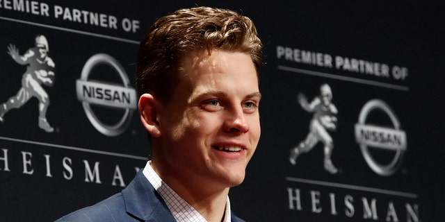 Joe Burrow won the Heisman Trophy. (AP Photo/Jason Szenes)