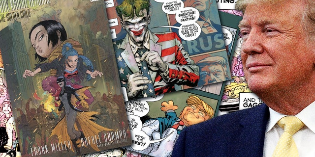 One image in the comic showed the Joker wearing a jacket with the colors of the American flag.