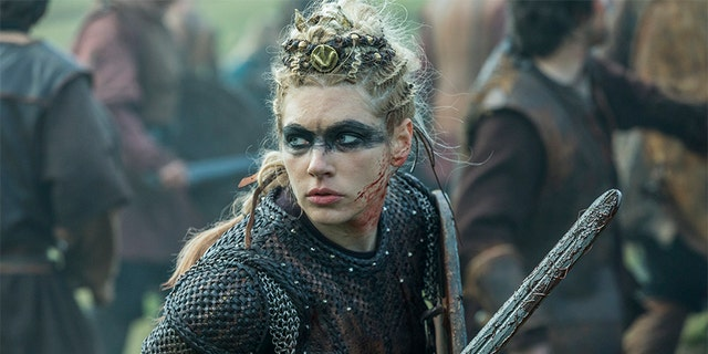 """Katheryn Winnick revealed """"Vikings"""" creator Michael Hirst received death threats over her character Lagertha's fate in the series."""