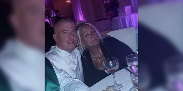 New Jersey Police Officer Joseph Seals with his mother, Deborah Perruzza, before his death.