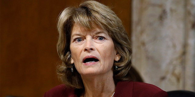 FILE - In this Dec. 19, 2019 file photo, Sen. Lisa Murkowski, R-Alaska, chair of the Senate Energy and Natural Resources Committee, speaks during a hearing on the impact of wildfires on electric grid reliability on Capitol Hill in Washington. (AP Photo/Patrick Semansky, File)