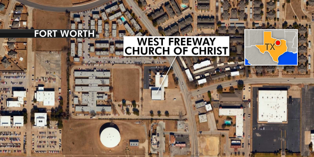 The shooting happened Sunday morning at the West Freeway Church of Christ, which is located in the city of White Settlement, Texas.
