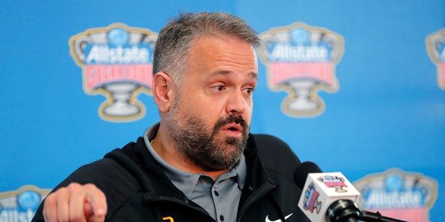 Baylor's Matt Rhule was named head coach of the Panthers. (AP Photo/Gerald Herbert)