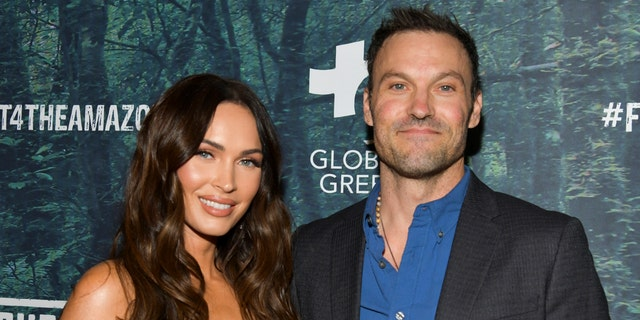 Megan Fox (L) and Brian Austin Green attend the PUBG Mobile's #FIGHT4THEAMAZON Event at Avalon Hollywood in December 2019.