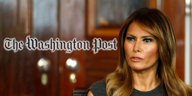 "A Washington Post columnist suggested first lady Melania Trump may have been sending ""messages"" with her fashion choices. (AP Photo/Patrick Semansky, Montage)"