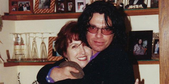 Michael Hutchence with his sister Tina celebrating Thanksgiving, circa 1996.