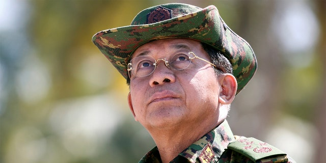 Myanmar military commander-in-chief, Senior General Min Aung Hlaing. REUTERS/Lynn Bo Bo/Pool - RC1A7FCEA250