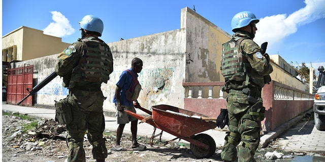 A study claims that UN peacekeepers fathered children with woman and girls in Haiti before abandoning them. (HECTOR RETAMAL/AFP via Getty Images, File)