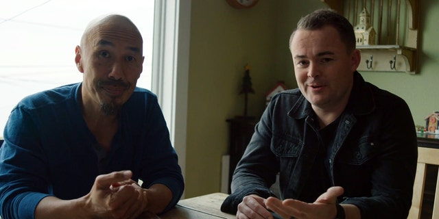 "Francis Chan, left, and Nick Hall talking about the ""Year of the Bible"" in a promo for the movement."