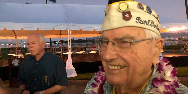 Westlake Legal Group Pearl-Harbor-Ceremony-AP-2 Pearl Harbor attack remembered in somber 78th anniversary ceremony Robert Gearty fox-news/world/world-regions/japan fox-news/us/us-regions/west/hawaii fox-news/us/military/navy fox-news/us/military/marines fox-news/us/military/honors/pearl-harbor fox-news/us/military/army fox-news/us/military/air-force fox-news/us/military fox news fnc/us fnc article 82b0b662-9e6f-5819-bc1e-6b84d2b57ae6