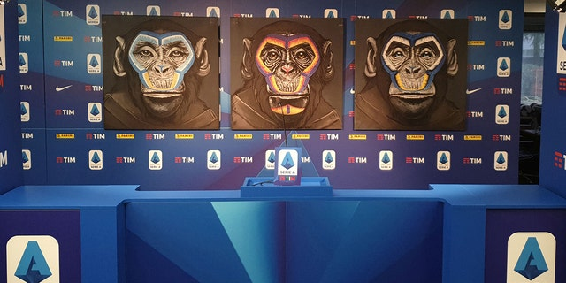 Westlake Legal Group RT-Series-Monkey-1 Italy's Serie A anti-racism campaign featuring monkey paintings has critics wondering if it's a 'sick joke' Greg Norman fox-news/world/world-regions/italy fox-news/sports/soccer fox news fnc/sports fnc article 9b04a3c6-6e9a-5ad7-8cae-f8247d84b86c