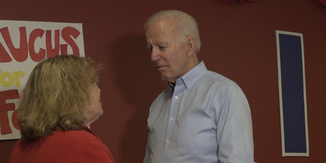 Biden rarely took questions while delivering remarks, choosing instead to speak with voters one on one at the end of each event.