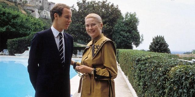 Albert de Monaco and Grace Kelly, circa 1982.