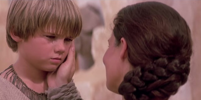 """Anakin Skywalker and his mother, Shmi, in """"The Phantom Menace."""""""