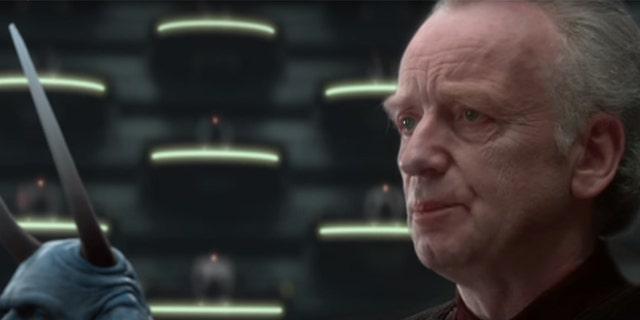"Supreme Chancellor Palpatine in ""Attack of the Clones."""
