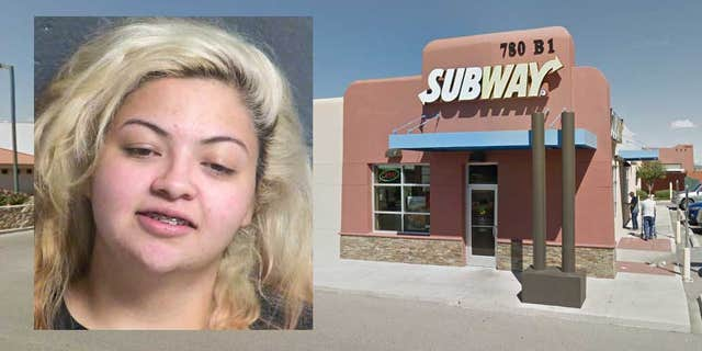 US News Lorena Ariana Marin told officers she staged a robbery at the Las Cruces Subway where she worked in order to