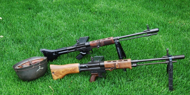 "The Fallschirmjägergewehr 42 (""paratrooper rifle 42"") was introduced specially for the German elite paratroopers. While it was an influential automatic rifle, it was only produced in limited numbers and had little impact on the outcome of the war. The examples above are replicas of the two versions produced during the war. (Collection of Peter Suciu)"