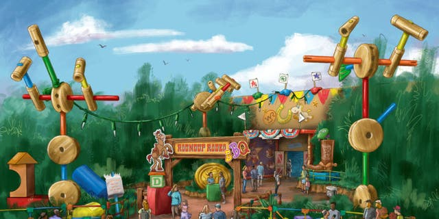 "The Roundup Rodeo BBQ will join the fun at Toy Story Land in 2020 (date yet to be announced,) offering a family-friendly setting to enjoy a meal amid Andy's iconic ""larger-than-life"" toys and games."