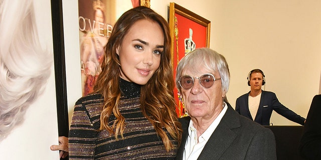 """Bernie Ecclestone, pictured here with Tamara in 2015, believes the theft was an """"inside job,"""" considering how secured the house on """"Billionaire's Row"""" was."""