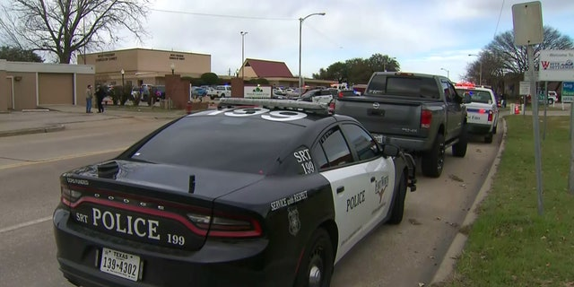 A large emergency response after a reported shooting at a church in White Settlement, Texas.