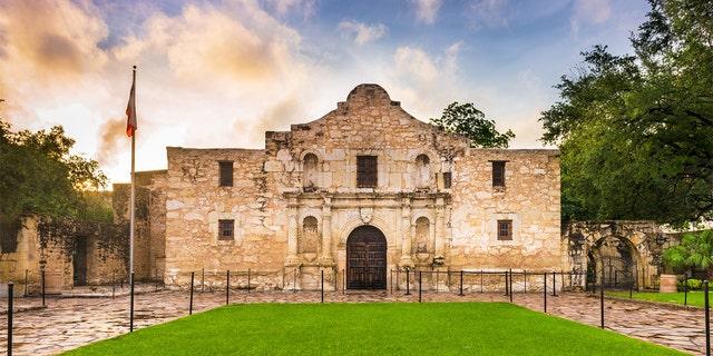 The Alamo in San Antonio, TX, United States.