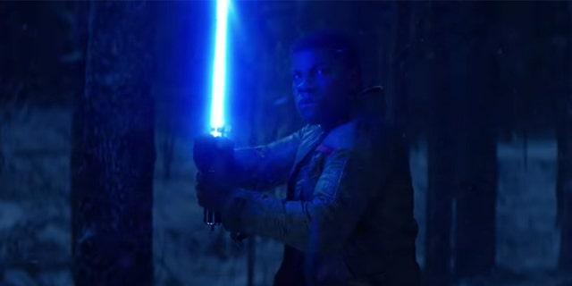 """John Boyega as Finn in """"The Force Awakens."""""""