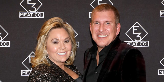Julie and Todd Chrisley attend the grand opening of E3 Chophouse Nashville on Nov. 20, 2019.