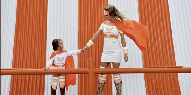 Though it was too cold on Halloween for Hailee Bage and daughter Mattie, 3, to wear their homemade Whataburger superhero costumes as planned, the duo rocked their outfits during a festive photo shoot a few weeks later.