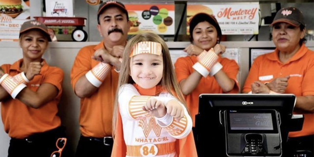 The Round Rock mom and daughter recently surprised staffers at one of Whataburger's Austin locations with their superhero style for the special photo op, and Hailee said the costumes were even a hit with the customers.