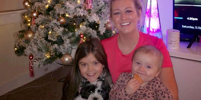 Jennifer Bell, 28, with daughters Georgia, eight, and Kacey, one.