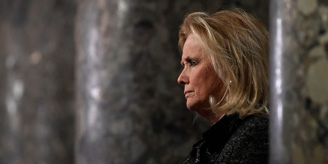 Rep. Debbie Dingell, D-Mich, speaks to reporters on Capitol Hill in Washington, Wednesday, Dec. 18, 2019. (Associated Press)