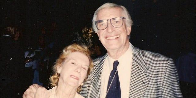 Kathy Wood with Martin Landau.