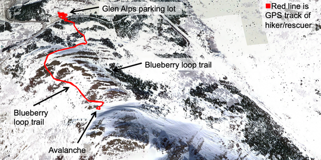 The avalanche occurred around 1 p.m. on Alaska's Flattop Mountain.