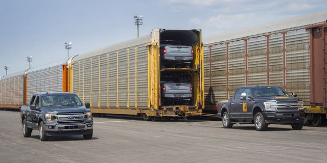 Ford demonstrated the electric F-150 by having it tow a train that weighed more than 1 million pounds.