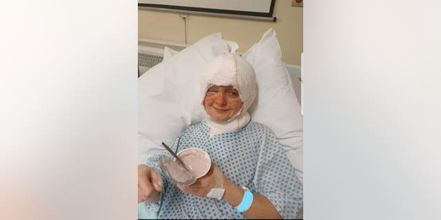 Young veterinary nurse Emily Fairbrass suffered horrific burns when her hair caught fire as she attempted to blow out a candle.